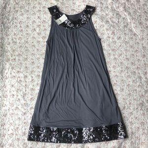 NWT Express Jersey Knit Tank Dress sequin Trim
